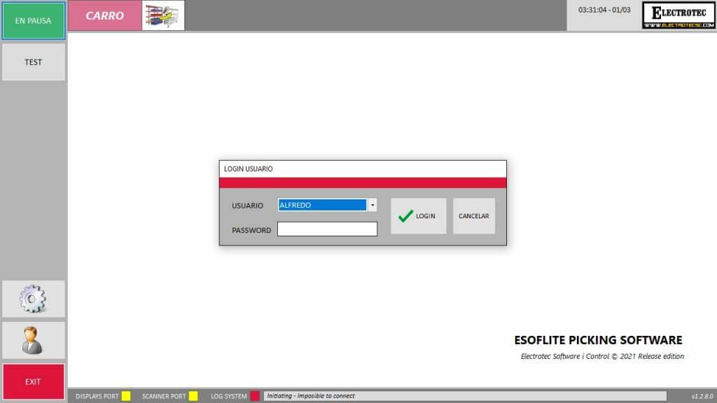 EsoftLite pantalla Menu Principal