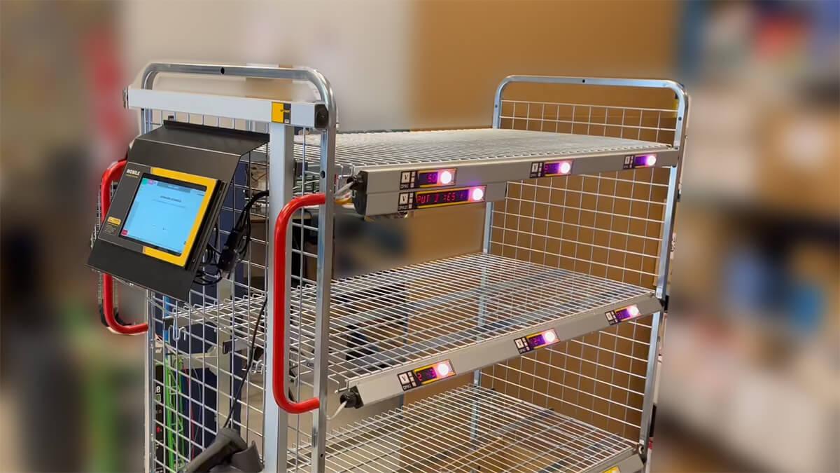 Carros de Picking con Tablet/PC y displays